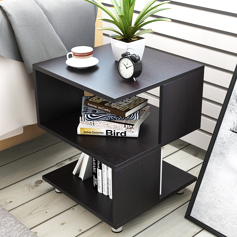 Sofa Side, Small Movable Tea Table, Bedside Table, Minimalist Side Cabinet,  Bedroom, Modern Mini Square Table Corner. Part 93