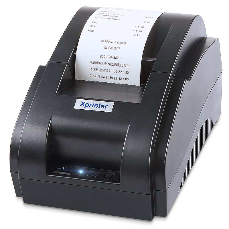 Core xp-58iih thermal printer supermarket cash register small note 58mm Baidu hungry meme Bluetooth takeaway printer fully automatic pick-up small voice order kitchen printer