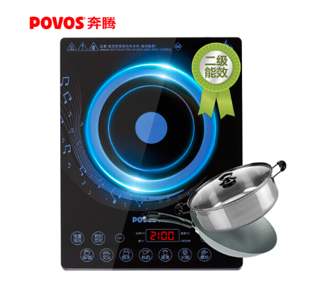 Be Shopary (POVOS) electromagnetic cooker one-click explosion appointment timing light touch electromagnetic cooker CG2149 double match