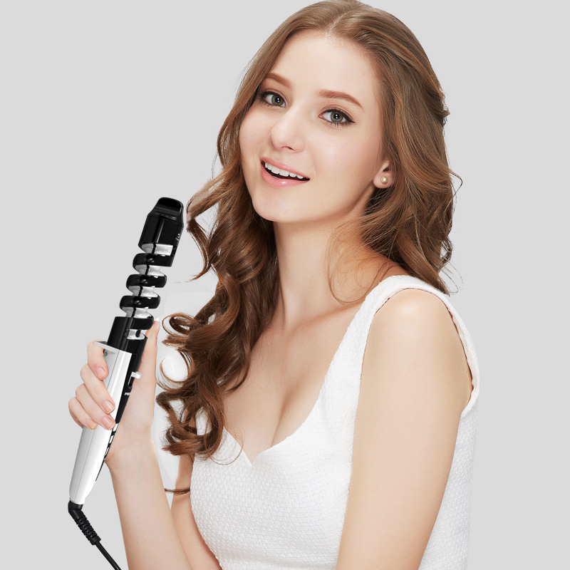 """""""beautybox"""" Pritech ceramic large wave electric curling stick dual large roll 32mm non-injury small inner button perm L61"""