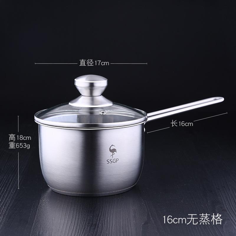 15cm 1.2L Non Stick Enamel Saucepan Milkpan Cooking Pan Kitchen Cookware