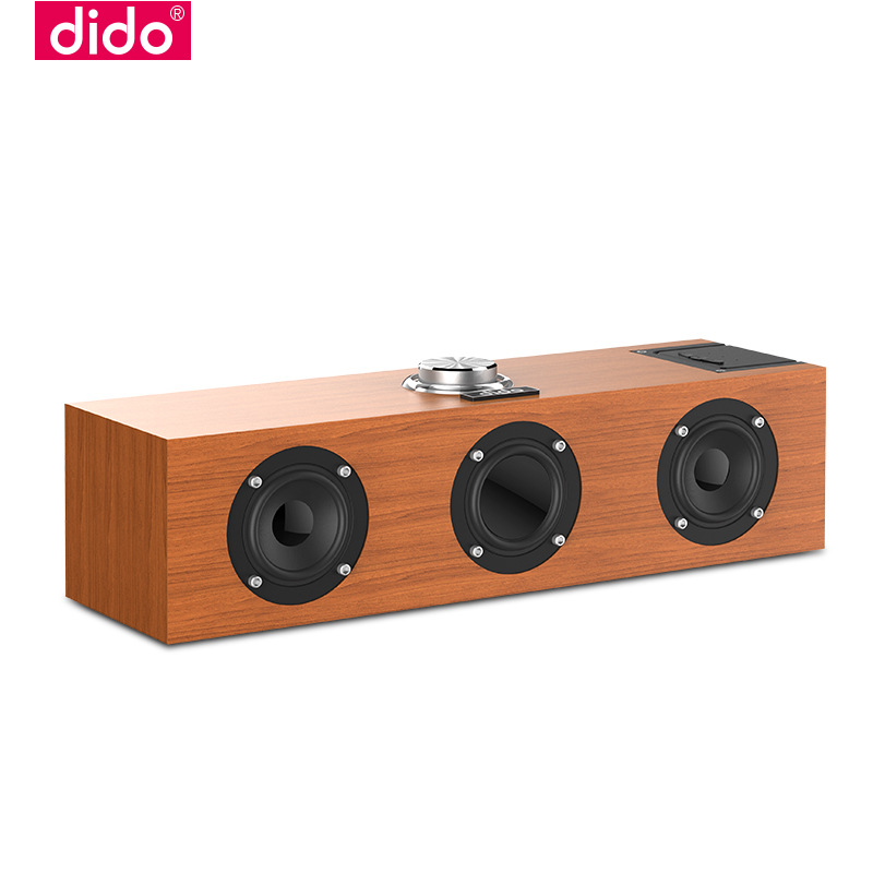 """""""Happliances"""" DiDo Q3S wooden wireless Bluetooth speaker mobile phone audio player car receiver with subwoofer"""