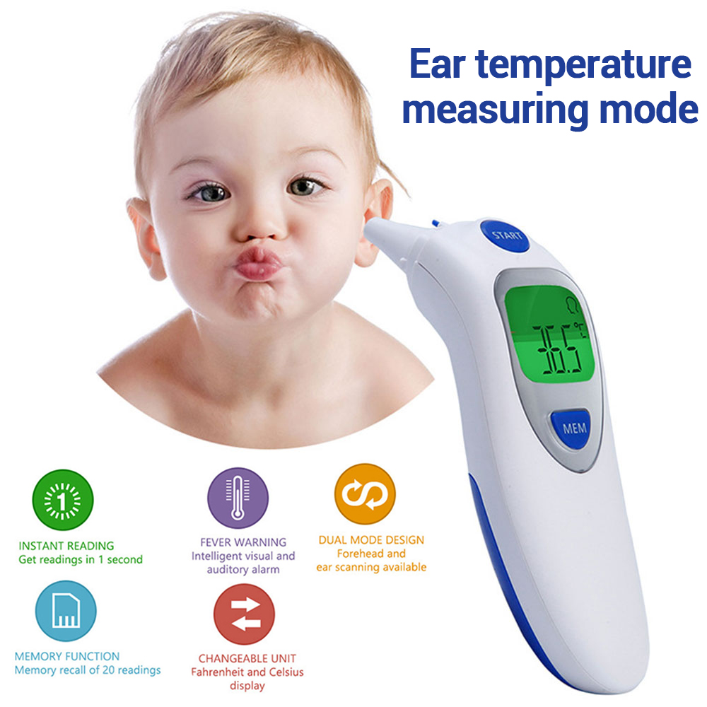 Children's Non-contact Multi-function Baby Electronic Thermometer Fast and Accurate Temperature Measurement Handheld Forehead Temperature Ear Temperature Object Temperature