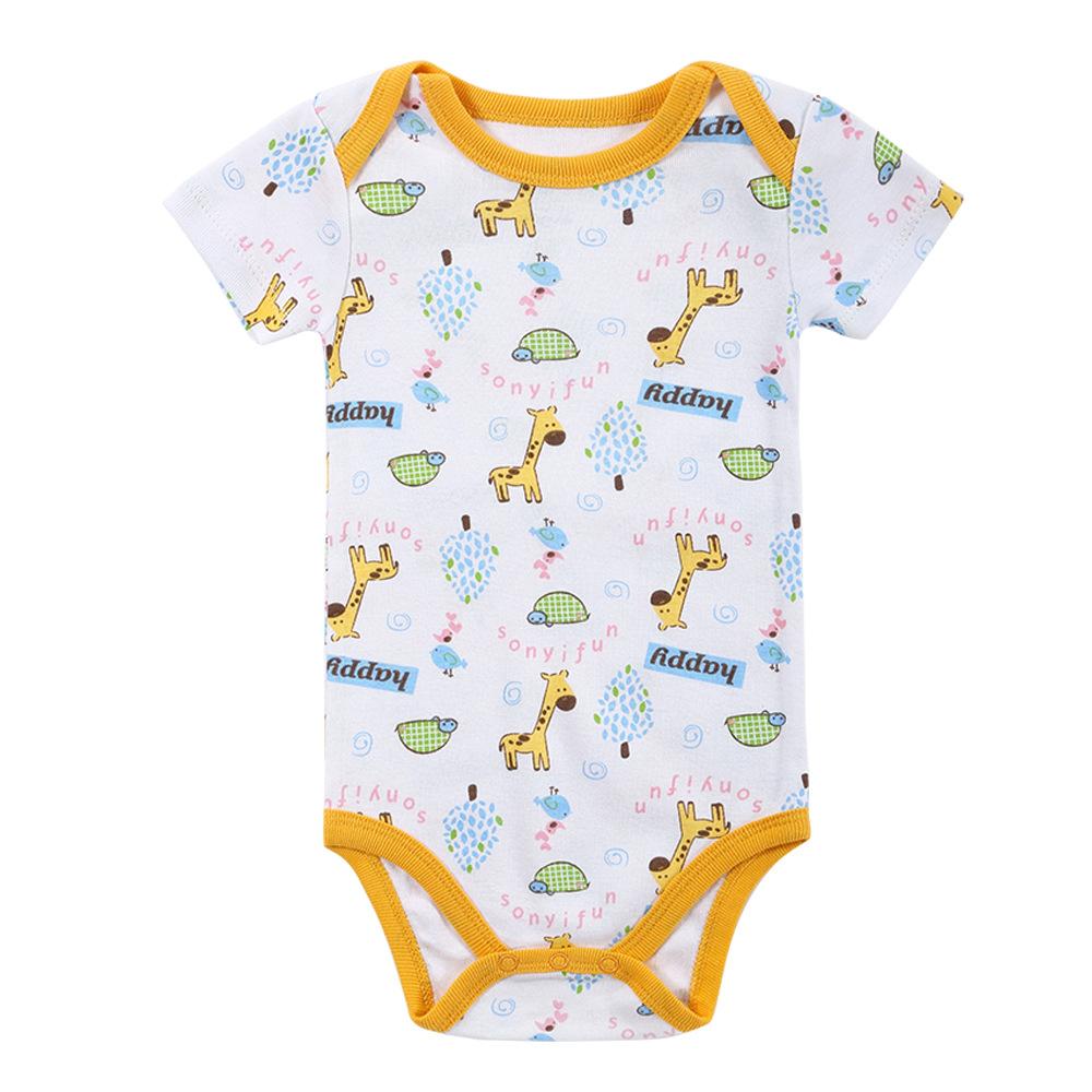 Newborn Baby Boys Girls Cotton Romper Bodysuit Jumpsuit Outfits Clothes Sunsuit
