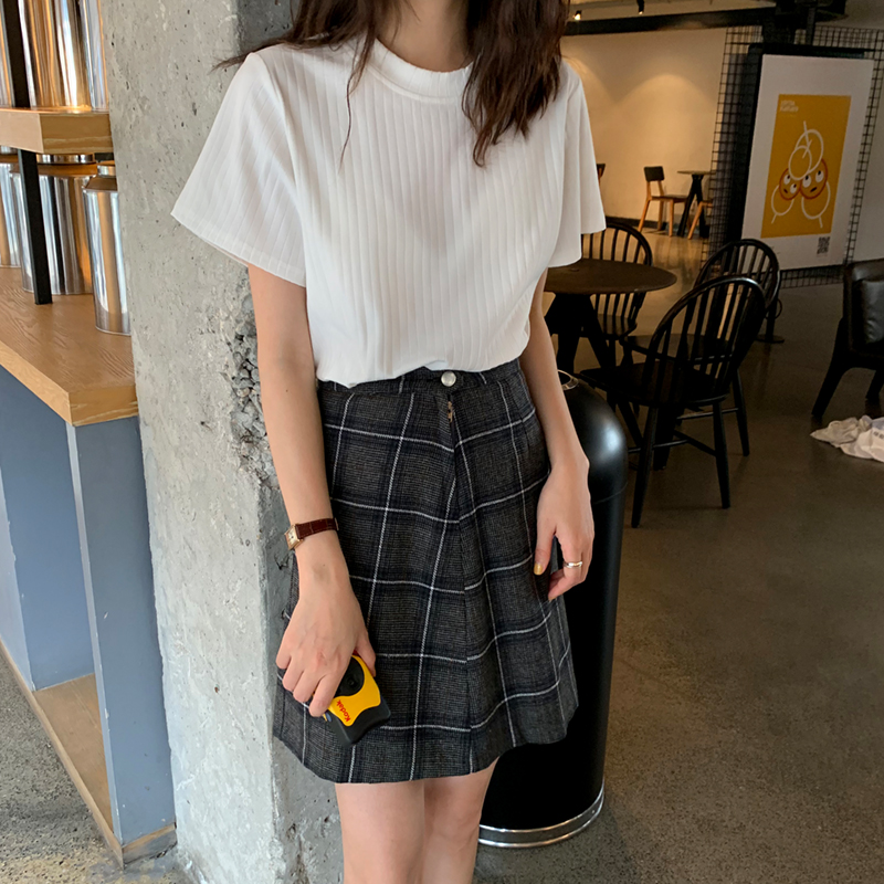 Buy 2021 new summer dress korean style a chic pit striped ...