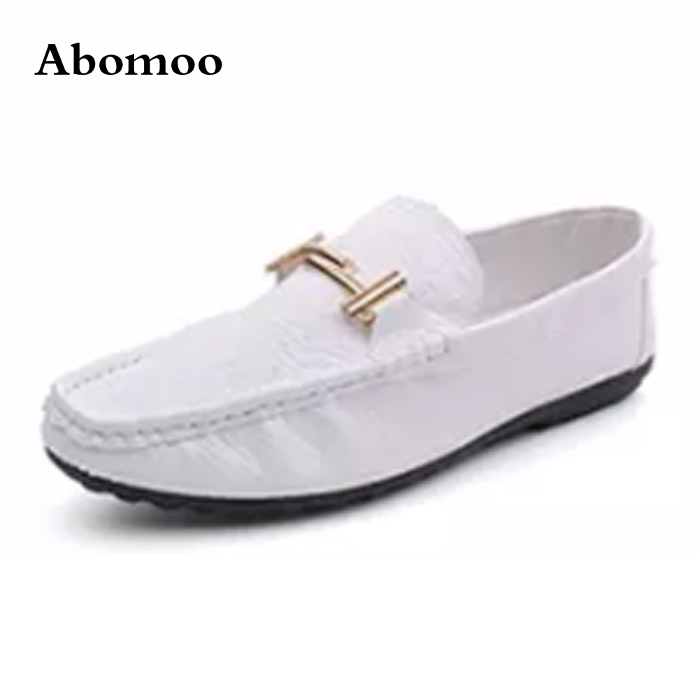 Men/'s Round Toe Lace-Up Flat PU Leather Shoes Driving Moccasin Loafers Shoes