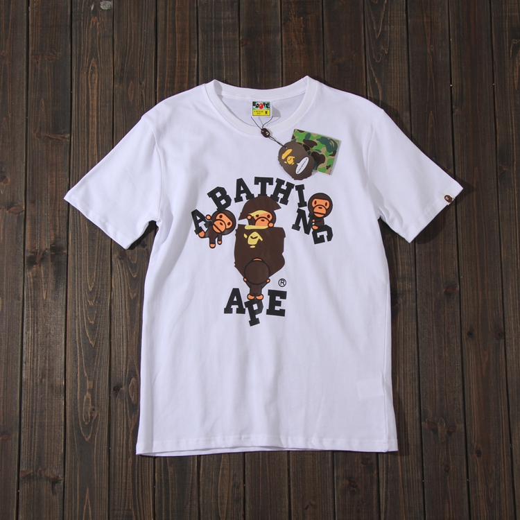 fb4ba216d7c Bape Youth fashion brand Pure cotton fabric camouflage printing black T- shirt couples with the same style summer short sleeve