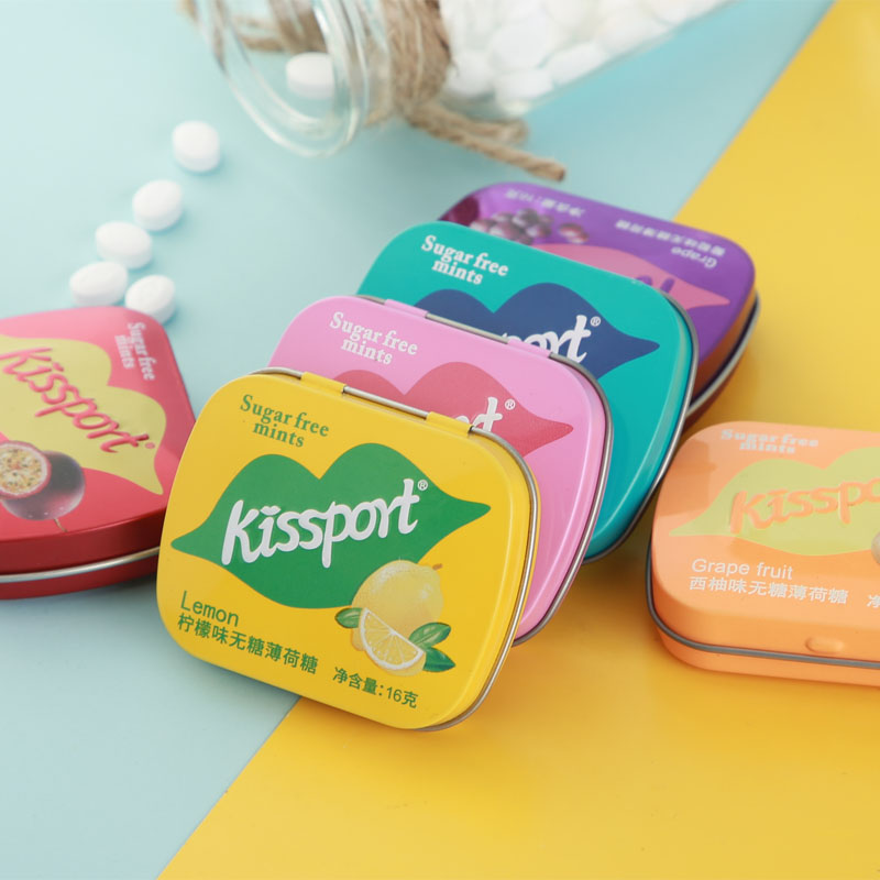 kissport sugar-free mint iron box fresh breath moisturizing larynx gum gum kiss sugar gum gum snack b1833