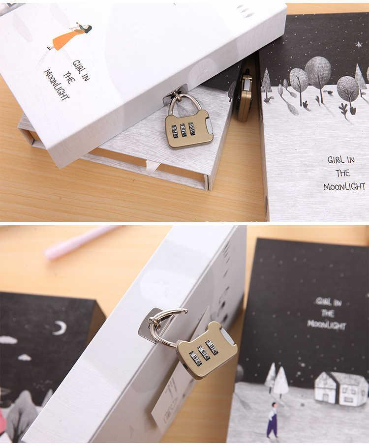 Buy Retro Password Book With Lock Diary Korean Creative Hand