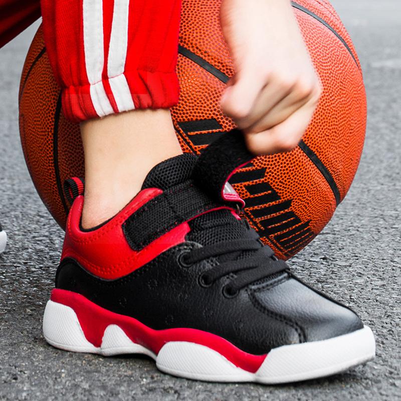 Happy Den Boys Sneakers Kids Shoes 2019 Winter Kids Warm Plus Velvet Little Boy Two Cotton Basketball Shoes
