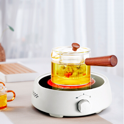 """""""Be Shopary"""" NoCUS silent white electric pottery furnace home kung fu health cooking tea machine small electric hot tea machine light wave non-induction furnace with glass ceramic pot"""