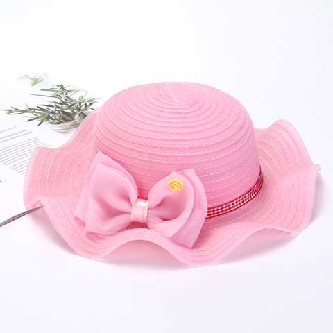 Baby straw hat Summer thin baby sunshade hat 6 months - 2 years old mesh male sun hat sunscreen 1