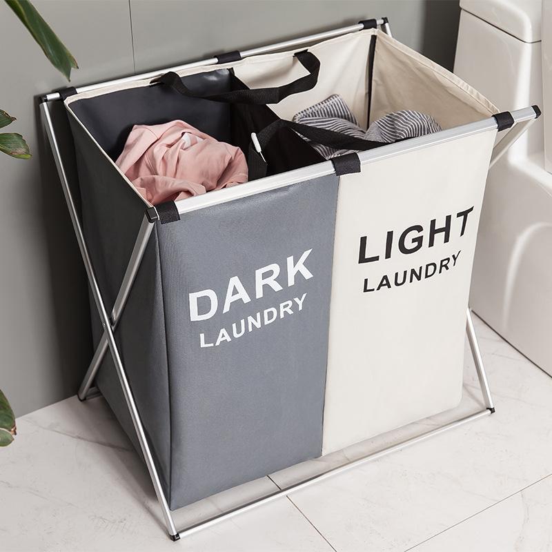 AKUN Oxford Cloth Laundry Basket Dirty Clothes Storage Bag Large Folding Storage Bag Cloth Dirty Clothes Basket