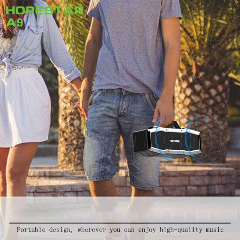 Hopestar A9 Ipx6 Waterproof Bluetooth Speaker Outdoor Portable Wireless Loudspeaker Sound System 3D Stereo Music Surround For