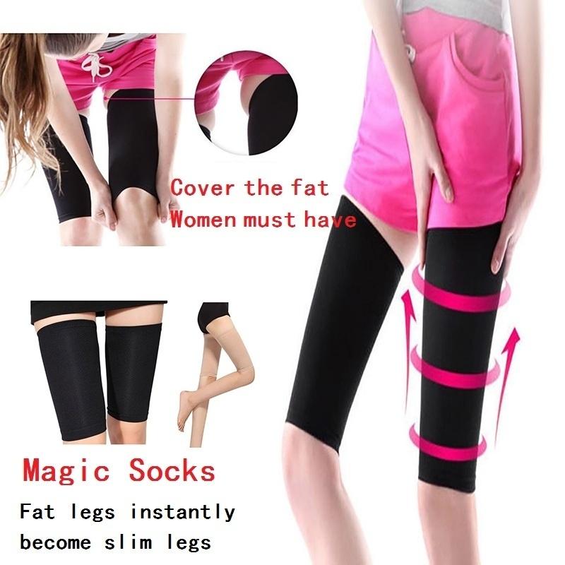 Women Slim Leg Ankle Socks Calf Compression Stretch Sleeve