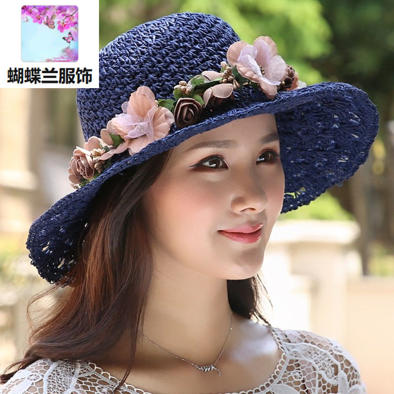 Sunscreen hat, sunscreen hat, sunscreen hat, ultraviolet hat, summer straw hat, Korean version of tide-sky hat