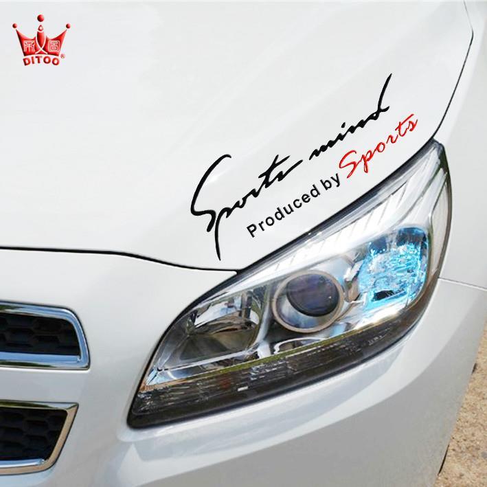 Car sticker scratch sticker letter decal machine cover body sticker car light eyebrow sticker decoration car sticker personality bonnet