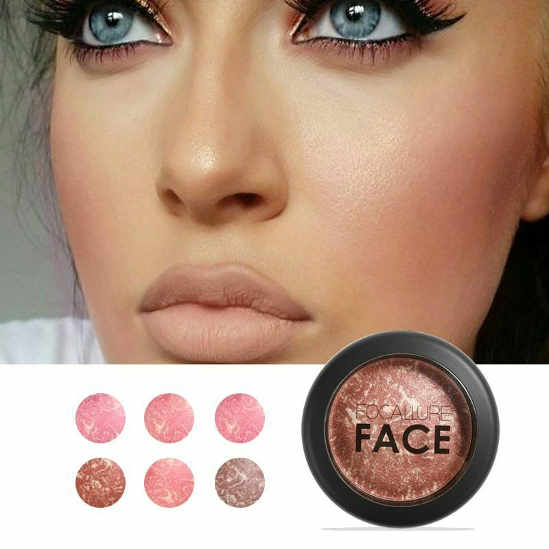 FOCALLURE Makeup Baked Blush 6 Colors Professional Cheek Bronzer Blushe High Qua