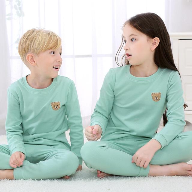 2018 Autumn Korean version of the new children's clothing underwear set cotton net color grinding children's autumn pants