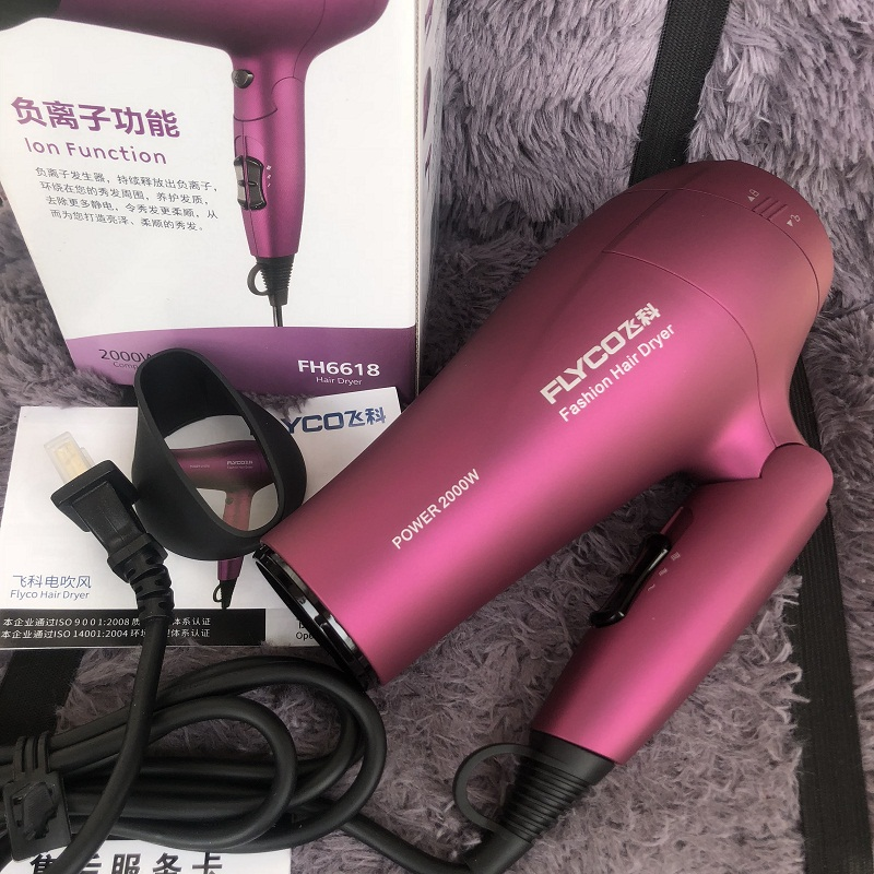 Flying family high-power 2000w hair dryer hot and cold air anion hair dryer constant temperature hair protection FH6618