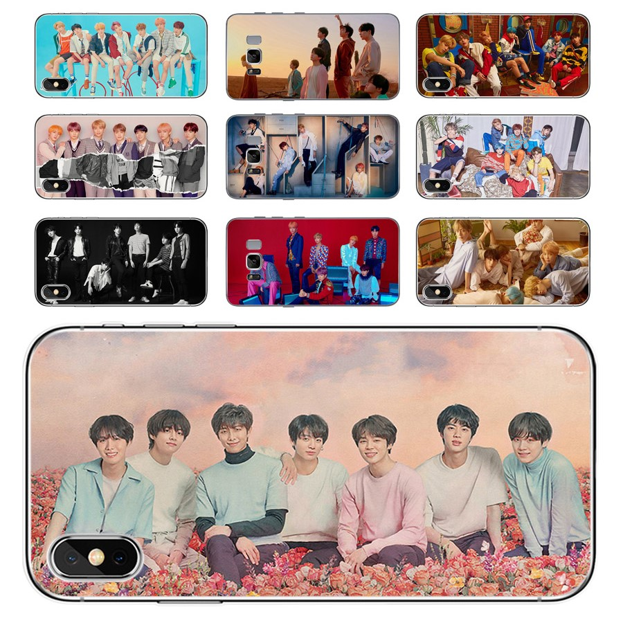 Big Family KPOP  BTS  Bangtan Boys iphone Universal TPU Phone Case For Apple iPhone 8 7 6 6S Plus X XS MAX XR 5S SE and Samsung   S6 Edge S7 Edge S8 Plus S9 Plus Note 8 Note 9 Mobile phone model
