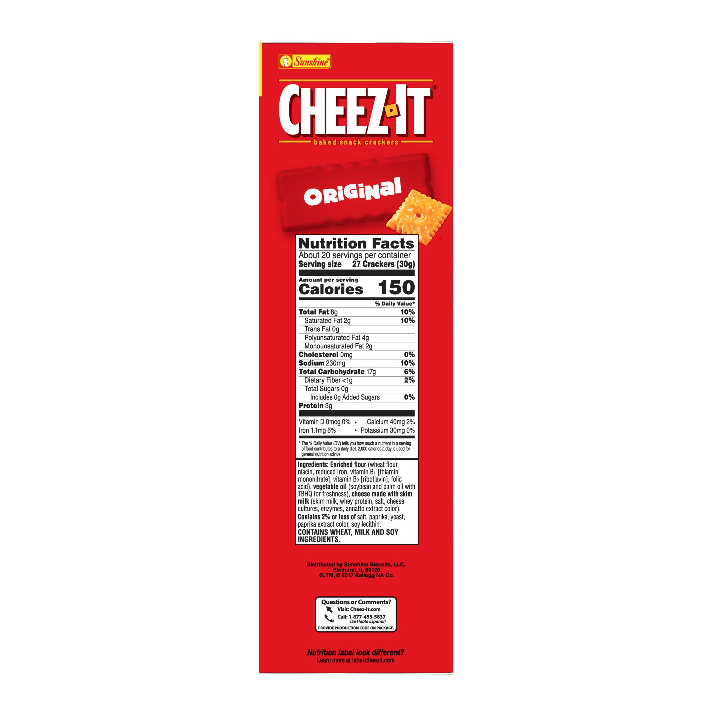 Cheez-It Baked Original Cheese Crackers