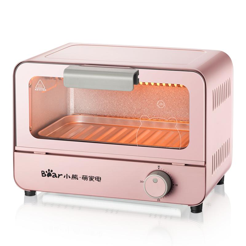 Electric oven Multi-purpose home mini baking oven toaster make cake machine DKXB06C1 6-litre pink knob timing