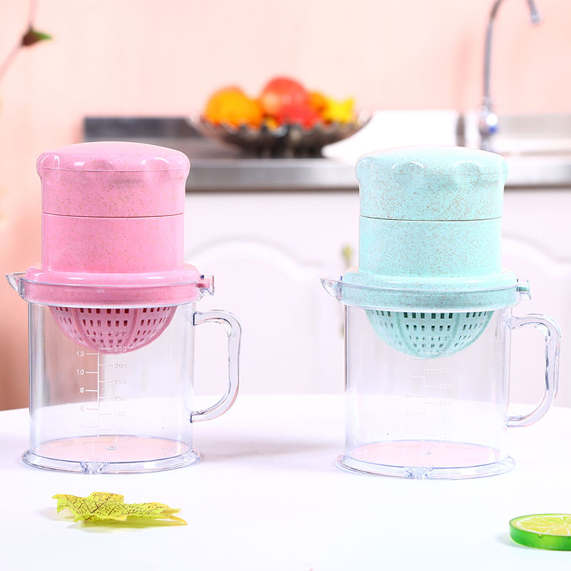 Hand-operated orange and orange juicer Simple mini-juicer Household children's auxiliary food