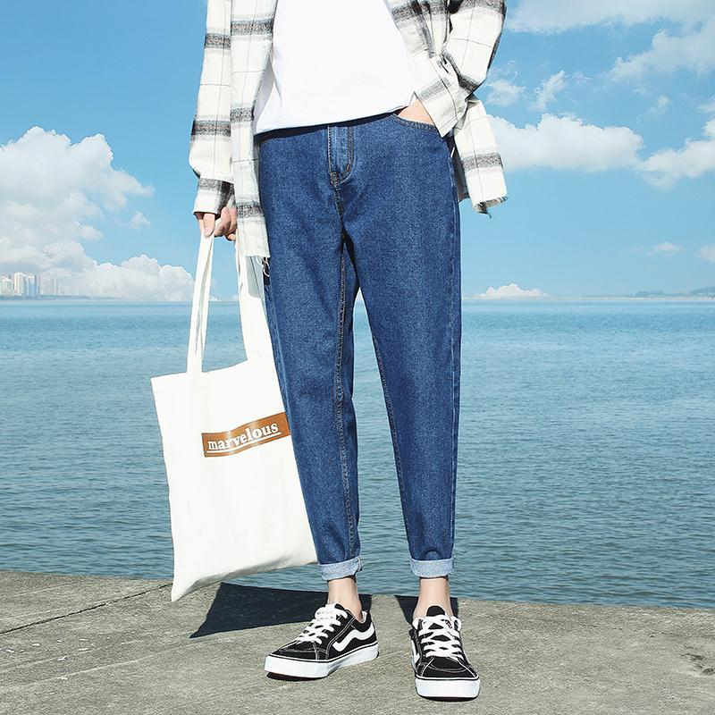 Autumn 13 junior high school students jeans men 14 teen 15 autumn and winter 16 boys 17 stretch 18-year-old long pants 19