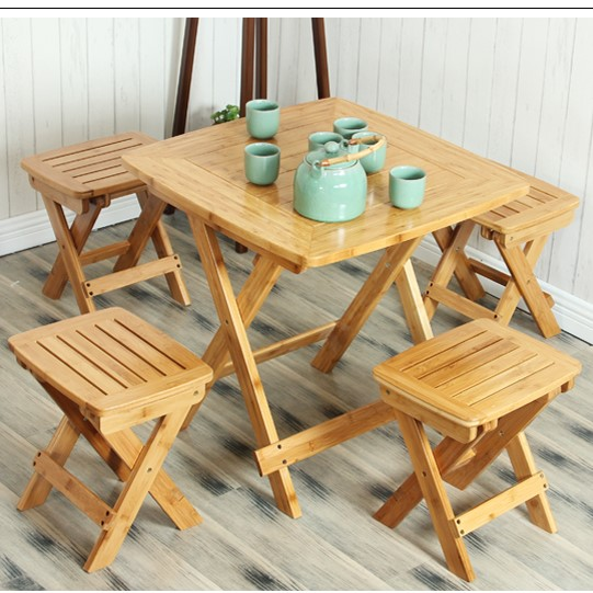 Leisure Table Folding Table Portable Portable Folding Table Simple Bamboo  Chair Large Sized Apartment Table Yoji774 Part 92