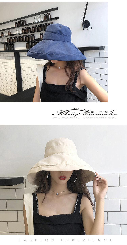 Woman Summer Bucket Hat Fisherman Outdoor Cap Sunscreen Summer Shade Cap NB