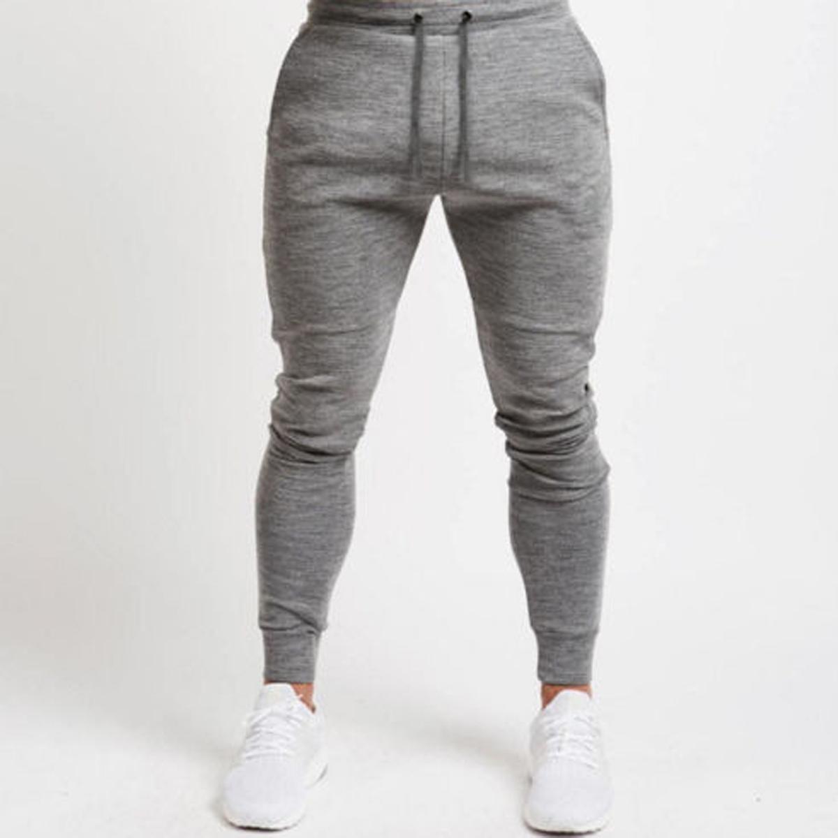 New Fashion Men Sportswear Skinny Running-wear Bottoms Slim Fit Jogger Slack Casual Man's Pants Waist Elastic Trouser