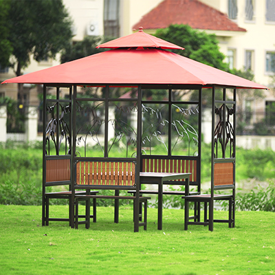 Iron Patio Chairs Garden Furniture Cabins Pavilion Outdoor Rooftop Tent  Shade Pavilion Asz3497