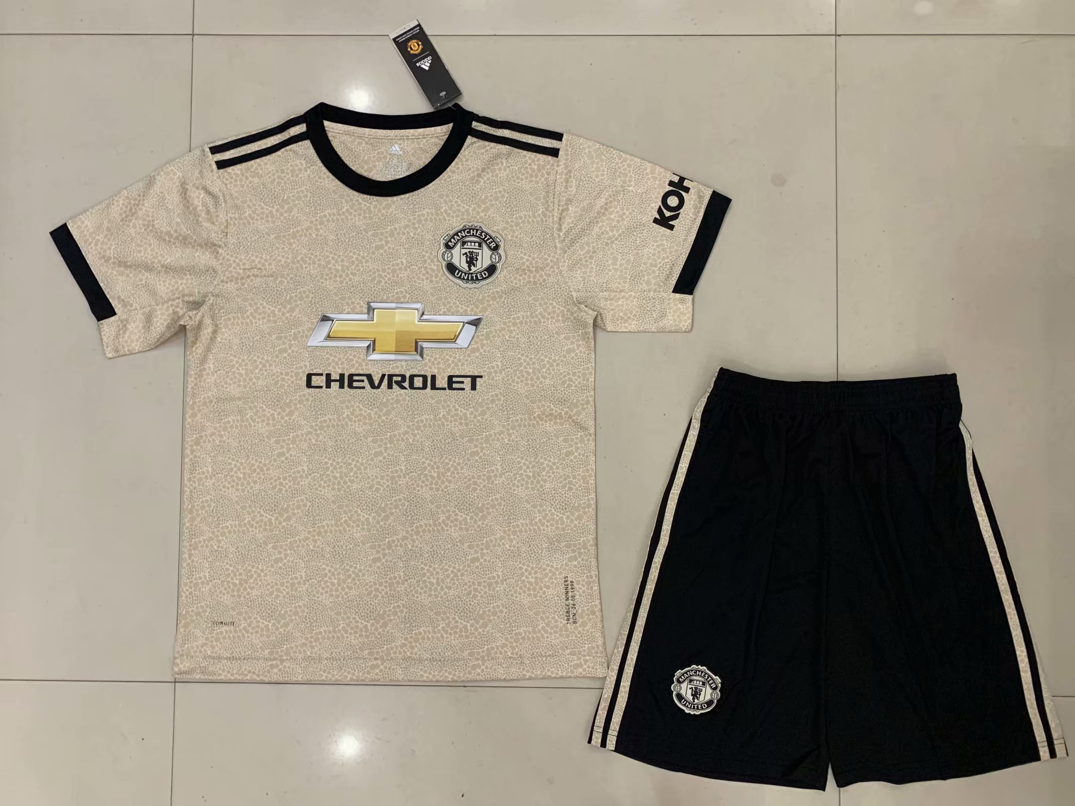 2019/2020 season Manchester United away new jersey adult football suit set custom name and number soccer jerseys