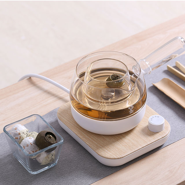 Be Shopary: Monchenk black teapot teamaker thickened glass multi-purpose home office fully automatic kung fu tea health pot