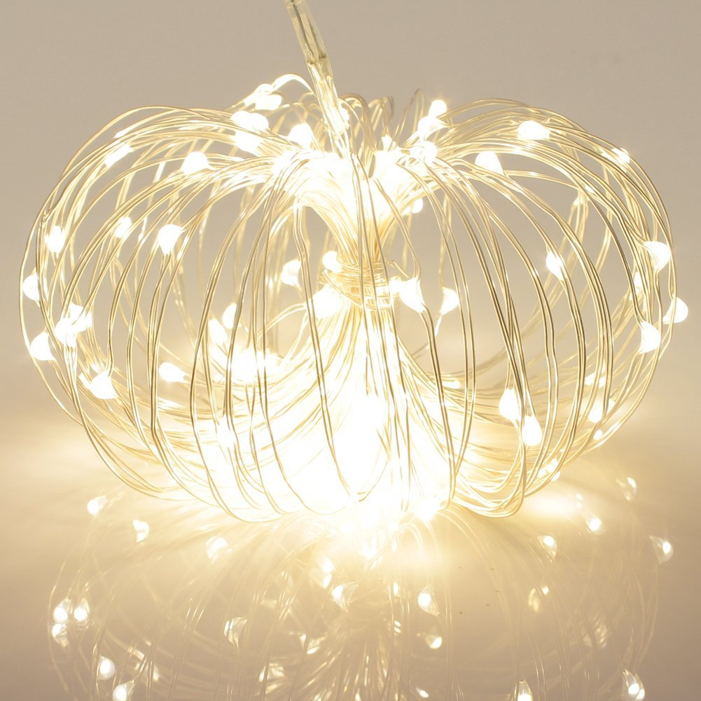 Silver Wire Led String Lights Warmwhite