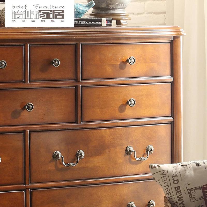 定制40 45天]The American Country Of The Chest Of The Chest Of 4 6 Bucket Of Cabinet  Store Of Furniture Of The Bedroom Of Store Of The Bedroom Of The ...