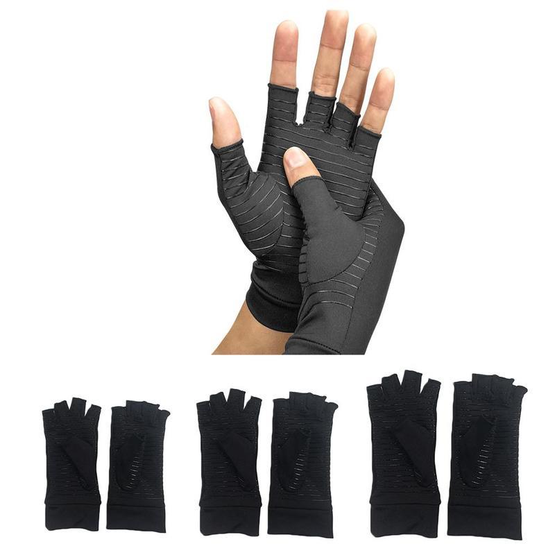 Copper Fiber Compression Arthritis Gloves Wrist Pain Relief Joints