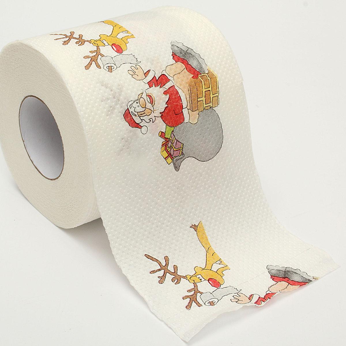 Cute Santa Claus Deer Christmas Toilet Paper Paper Tissue Living Room Table Table D'Cor