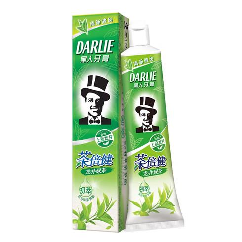 Black toothpaste tea double Jianlong well green tea breath fresh anti-moth set 190g send soft hair toothbrush mouthwash cup mt89