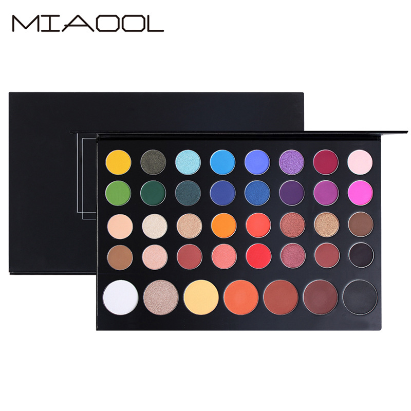Miaool new 39 color pearly matte mixed eye shadow waterproof sweat-proof non-halo dye makeup plate