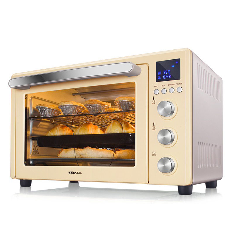 Electric oven Independent thermostat with baking fork Home baking oven DKX-B32E1 32L high capacity hot air circulation, 8 smart menu, dual probe temperature control, knob temperature control