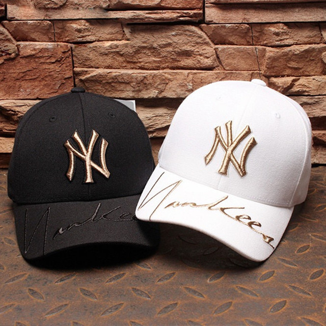 New MLB Baseball Cap NY Duck Tongue Cap for Men and Women Golden Standard Yankees Hat Foreign Trade Tide Hip Hop Sports Hat